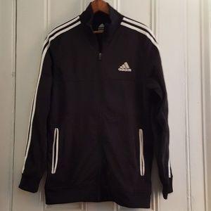 Black and White Adidas Track Jacket, Medium